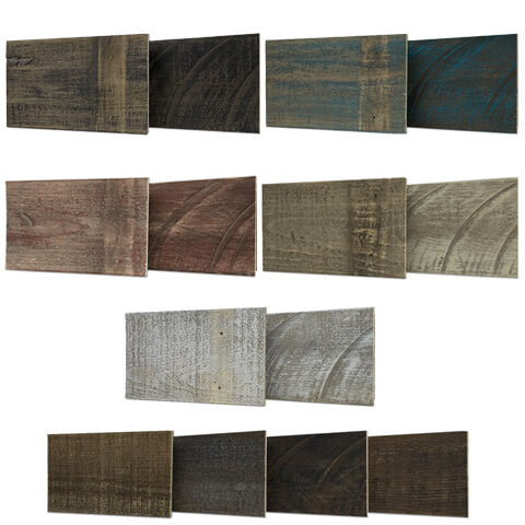 reclaimed wood wall sample