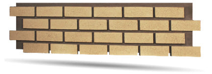 Authentic Faux Brick Panels in Yellow
