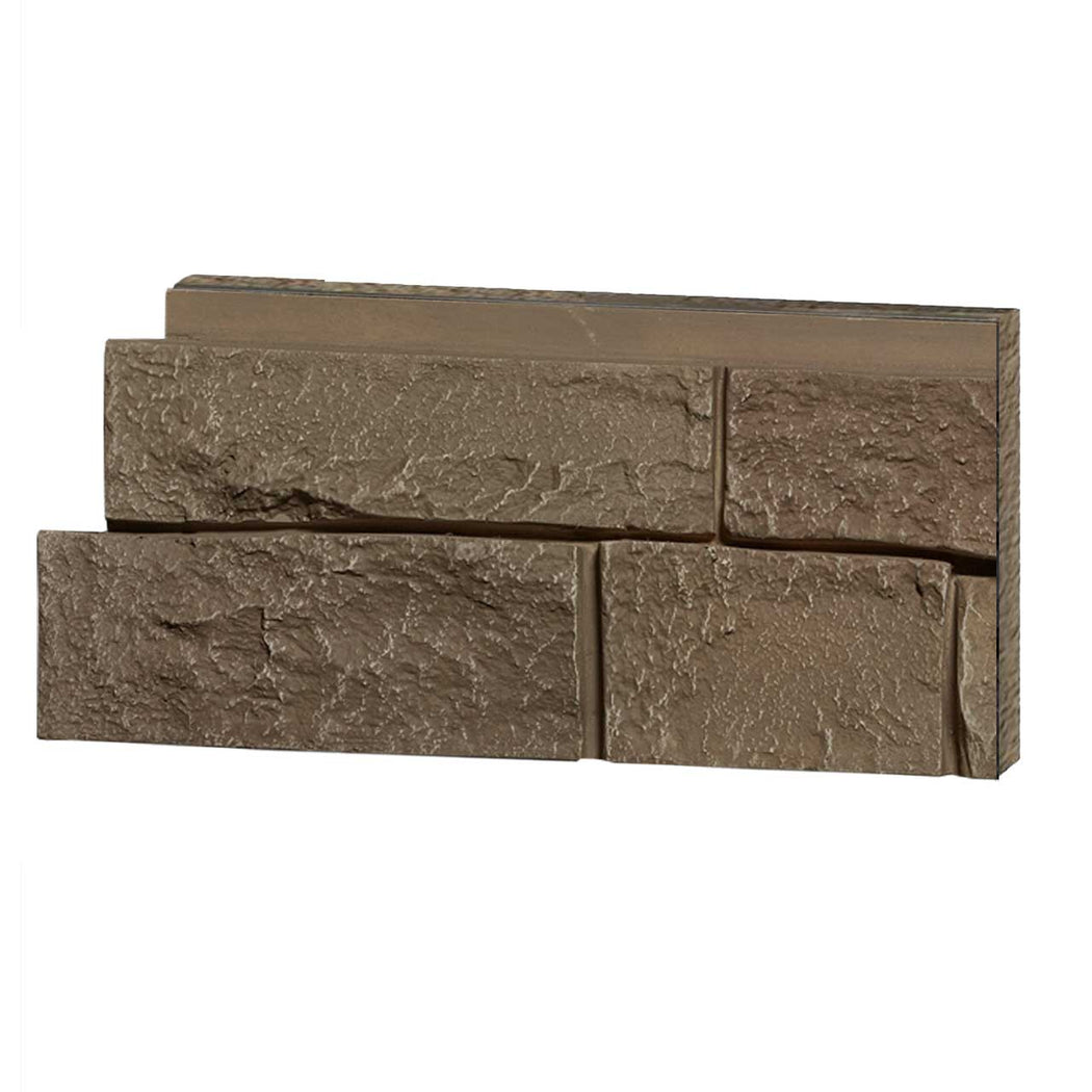 Faux Ledge Stone - Light Brown Sample
