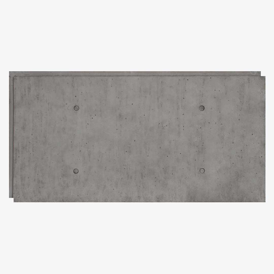"URBAN CONCRETE - 24""X48"" PANEL -  INDUSTRIAL GREY"