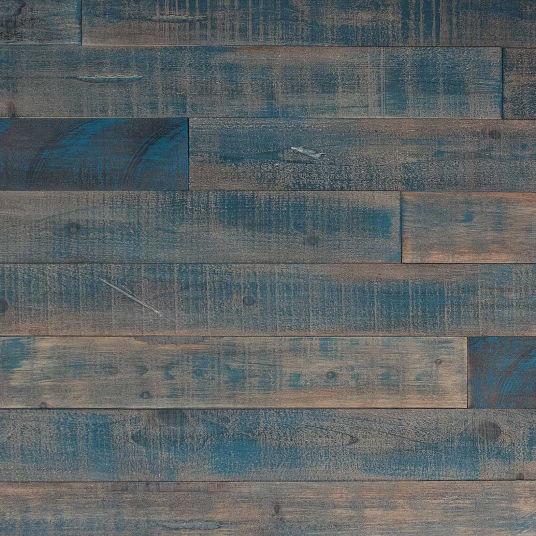 DISTRESSED WOOD WALL - 10SQFT BOX - BLUE-ISH