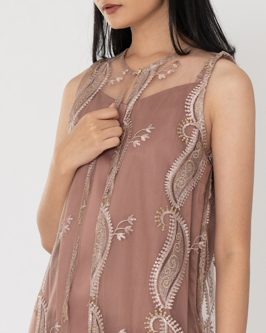 Caola Rose Gold Dress