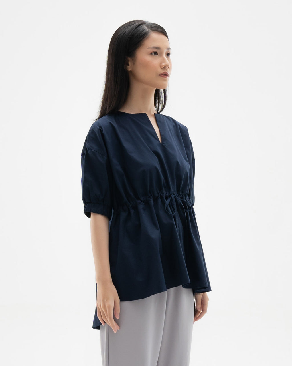 Caleb Navy Top