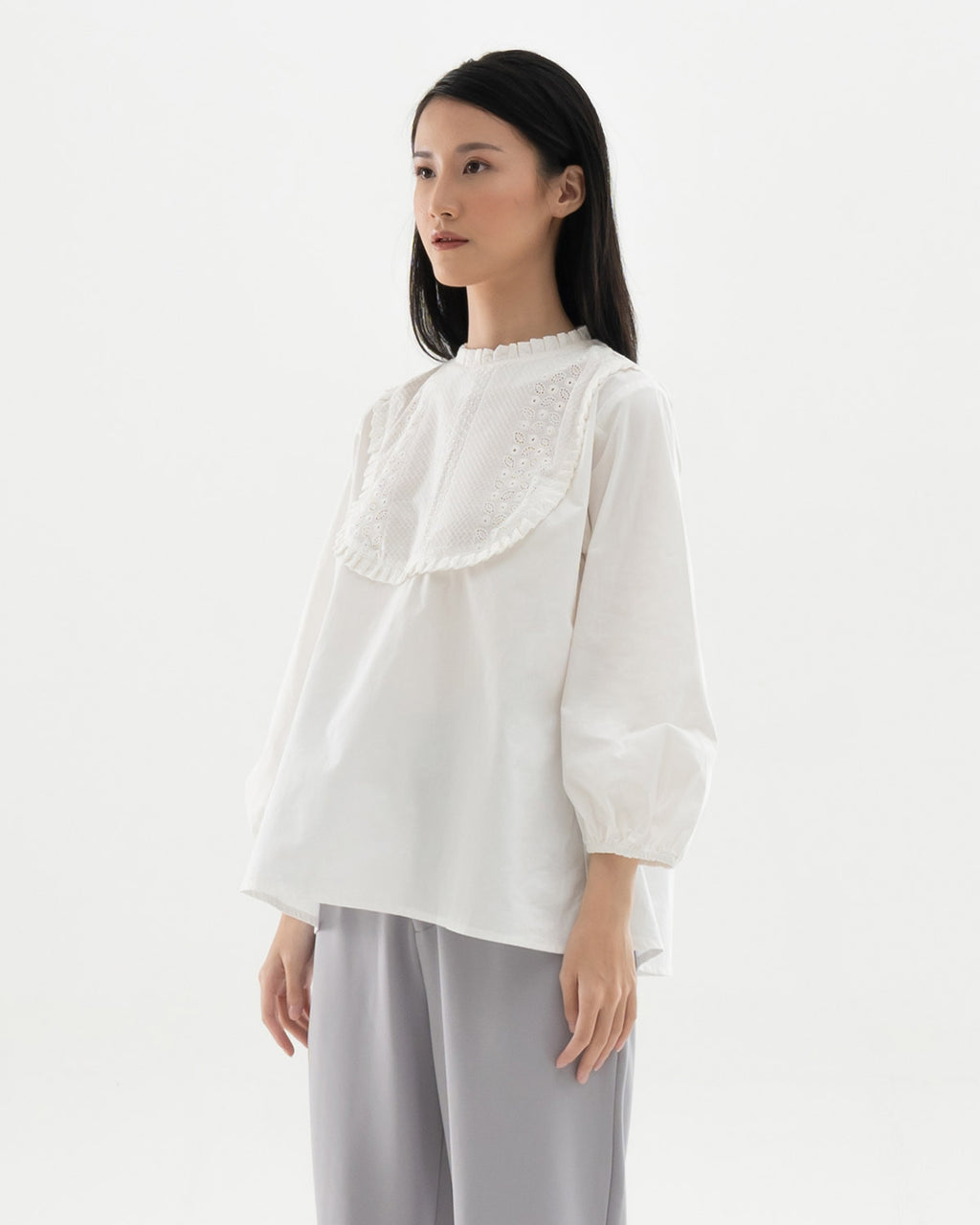 Faye White Blouse