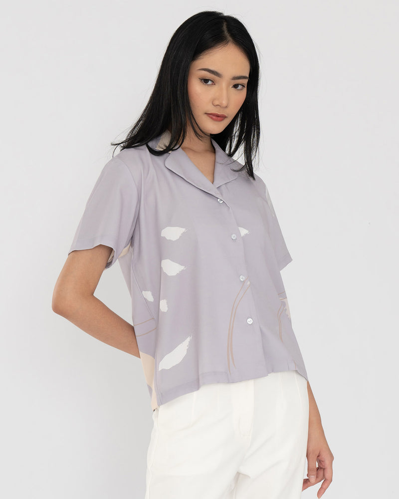 Reyka Dusty Purple Print Shirt