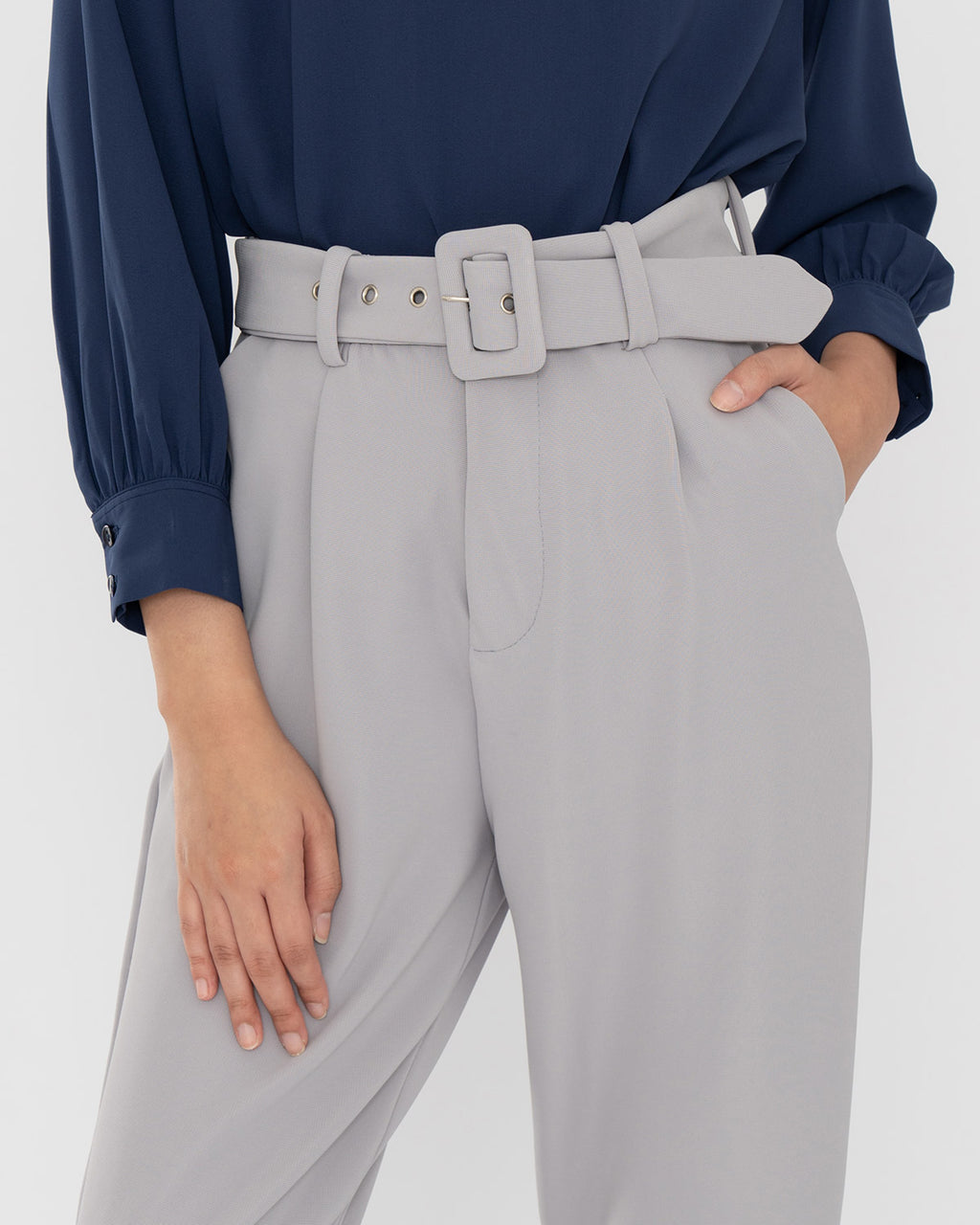 Leah Light Gray Pants