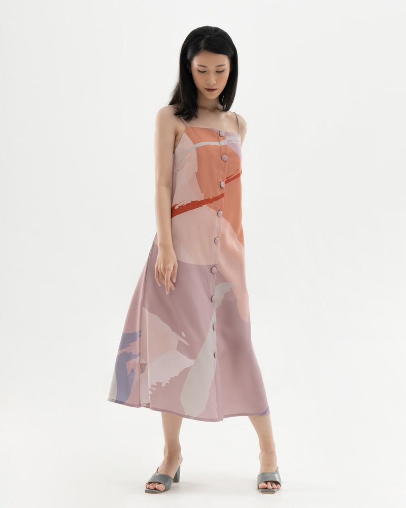 Maya Dusty Pink Print Dress
