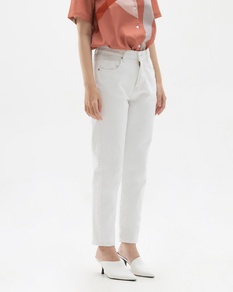 Kook White Denim Pants