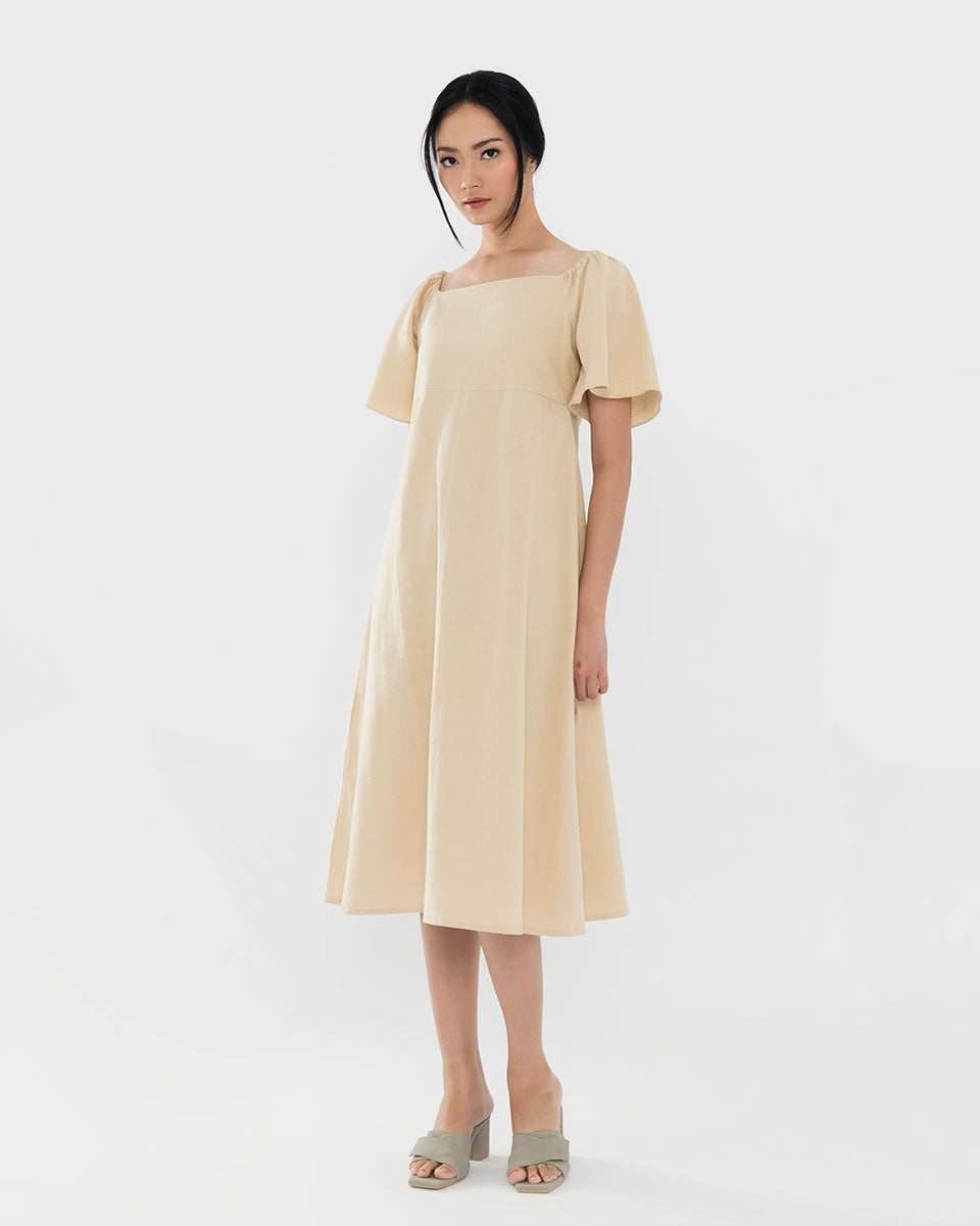 Daphne Khaki Dress