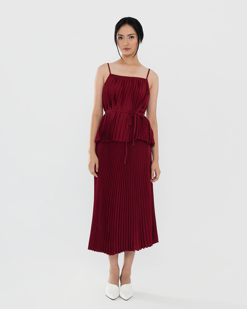 Emmeline Maroon Top (Pre Order 7-10 working days)