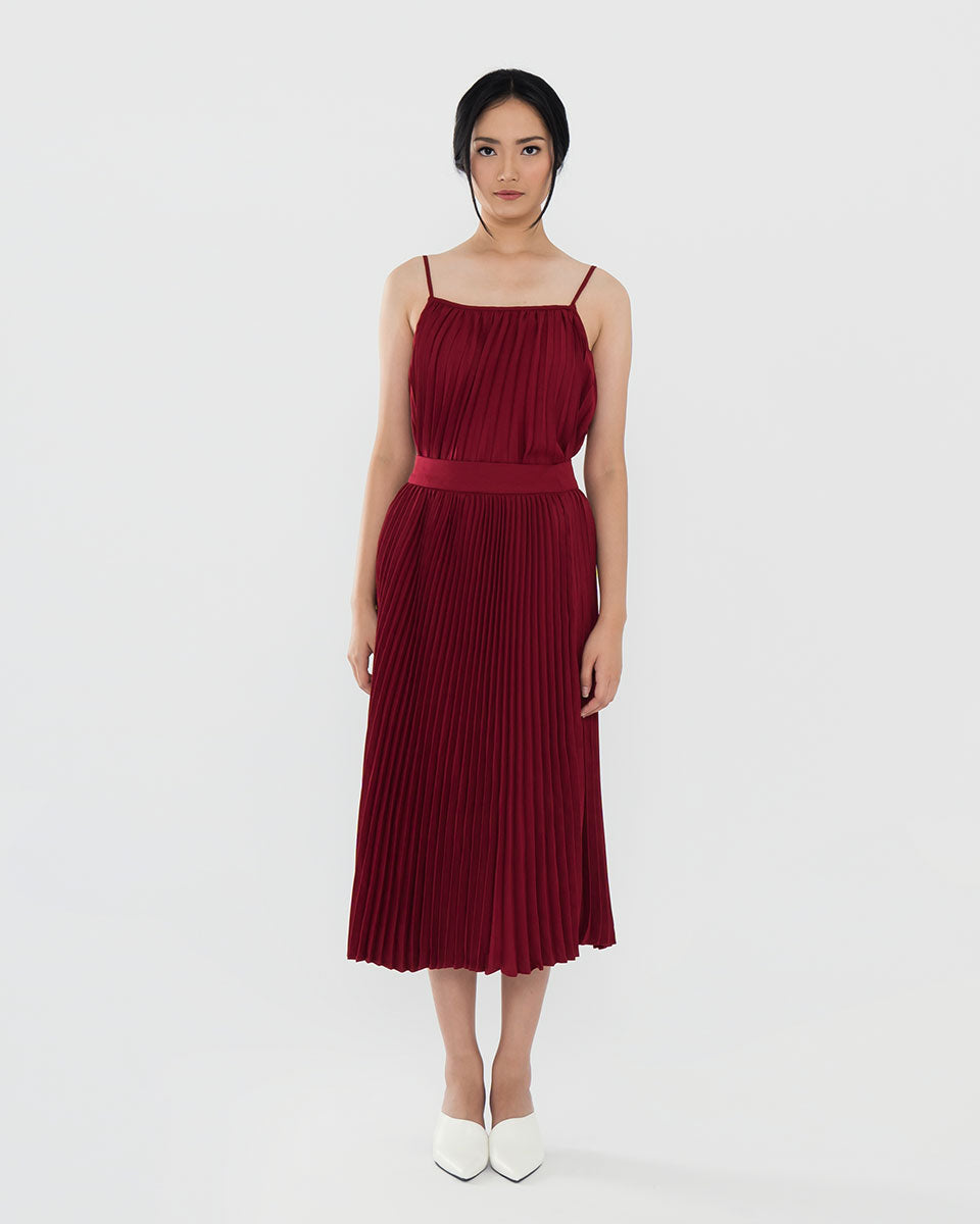 Raelynn Maroon Skirt (Pre Order 7-10 working days)