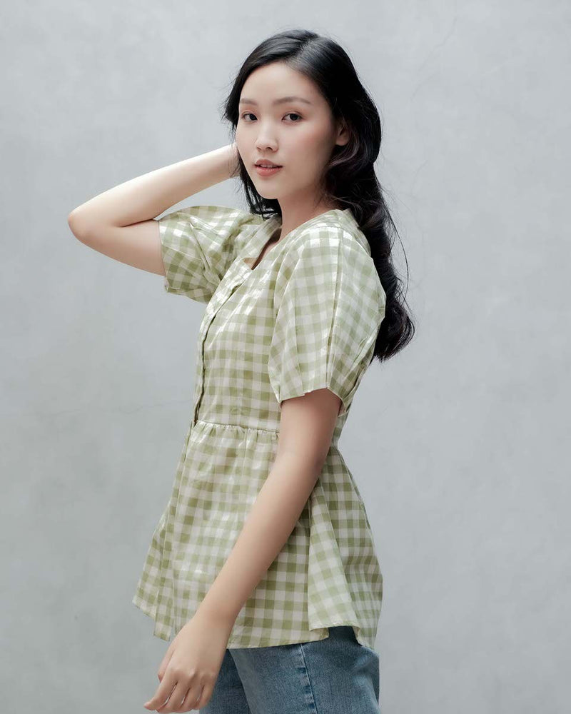 Gingham Eunji Top