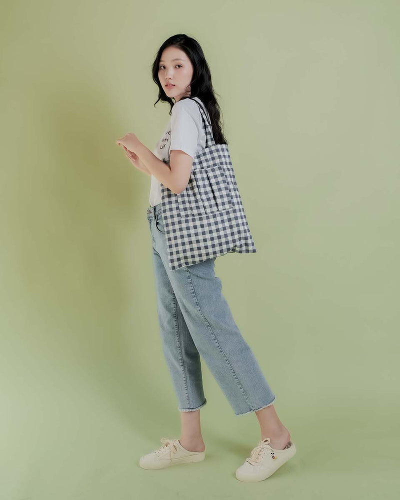 Gingham Yun Tote Bag