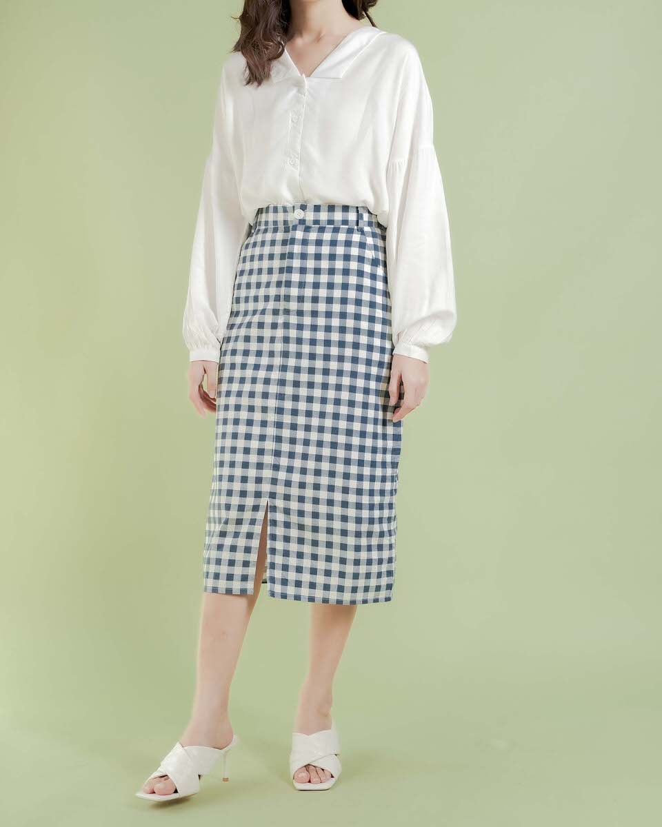 Gingham Somin Skirt