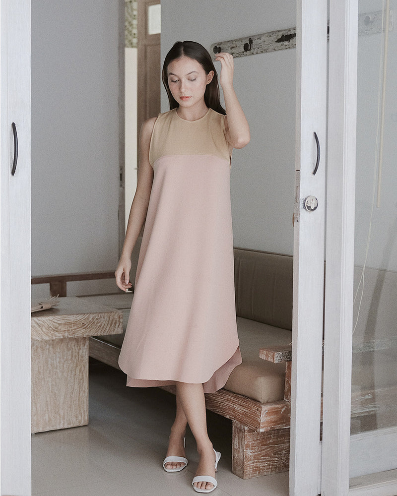 Callie Two Tone Pink Dress