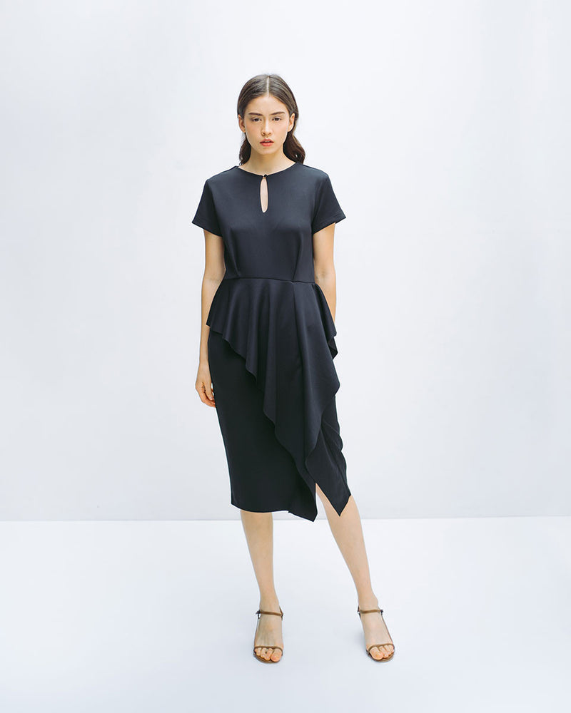 Ethalie Black Dress