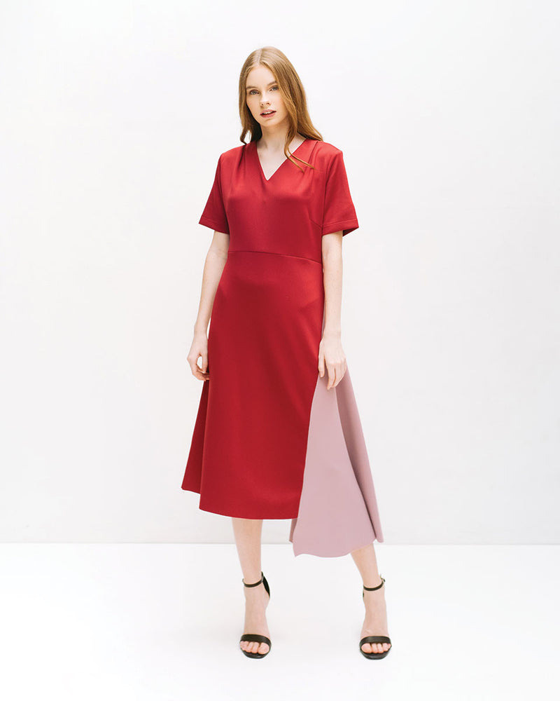 Guerra Maroon Dress