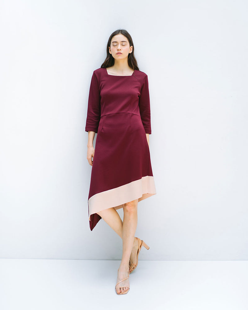 Jane Maroon Dress