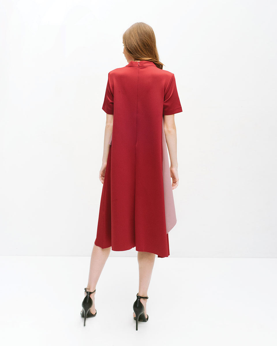 Magre Maroon Dress