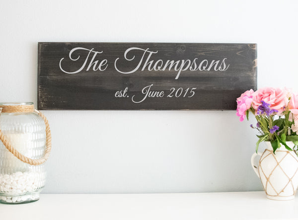 Rustic Hand Made Vintage Wooden ENS1000713 Custom Family Farm Est Date Sign