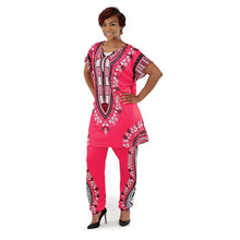 Load image into Gallery viewer, Plus-Sized Traditional Print Pant Set