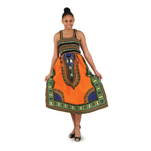 Load image into Gallery viewer, Traditional Print Stretch-Top Dress
