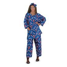 Load image into Gallery viewer, African Print Blue Pants Set