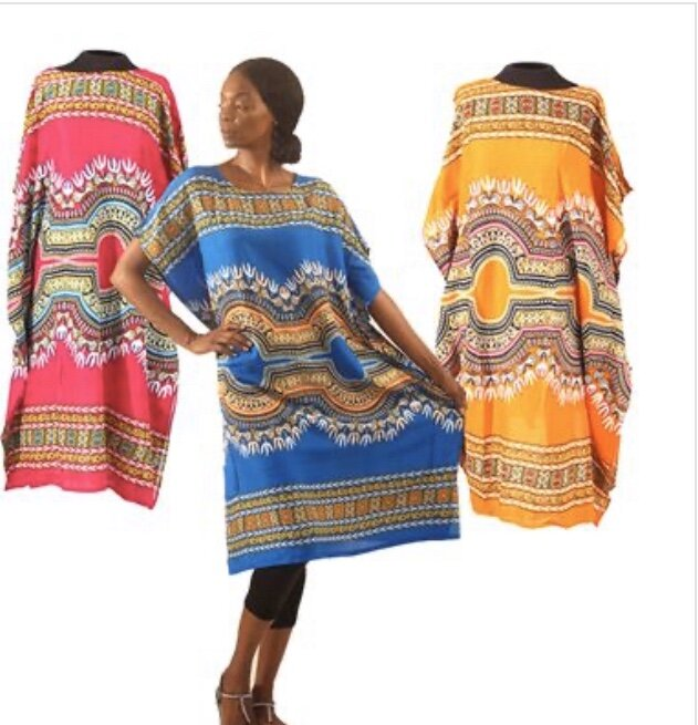 Traditional Print Short Kaftan