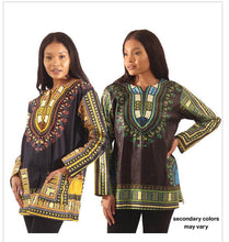 Load image into Gallery viewer, Traditional Print Long-Sleeve Dashiki
