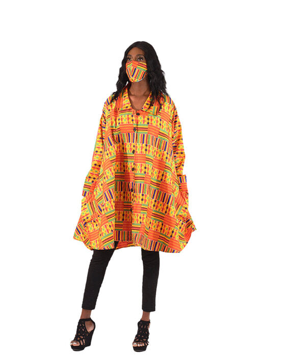 Kente Smock with Mask