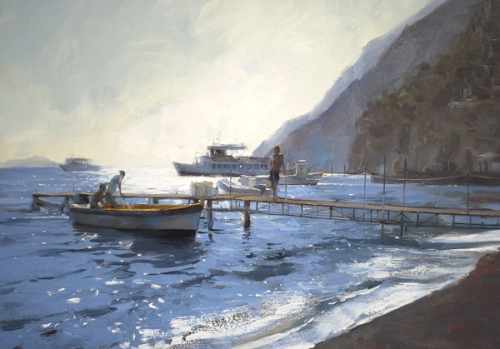 REDUCED TO CLEAR : Douglas Gray - Morning Light, Positano Limited Print