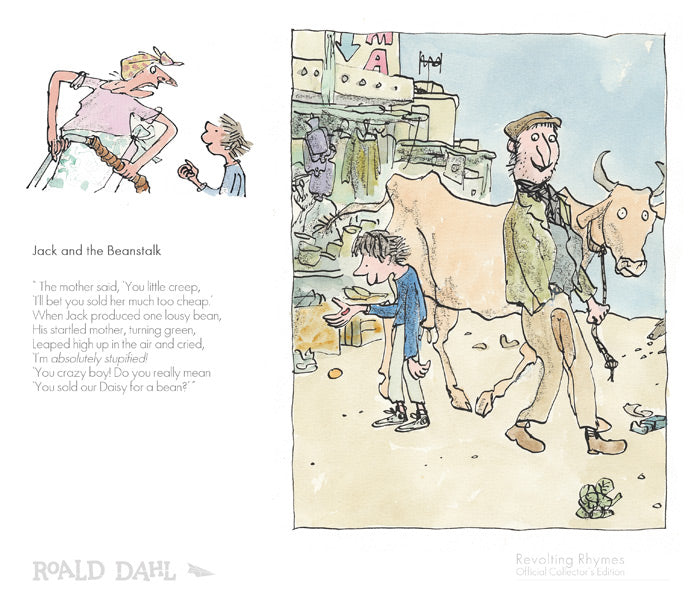 REDUCED TO CLEAR : Revolting Rhymes - Roald Dahl & Quentin Blake Prints