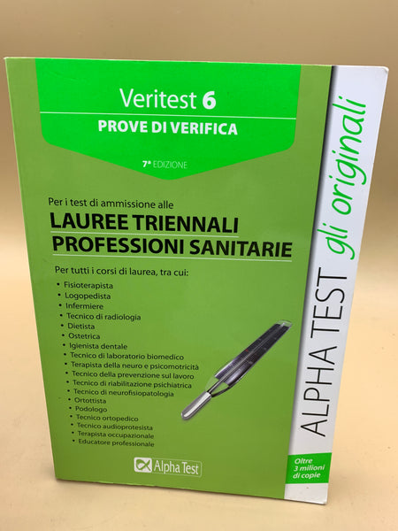 Lauree triennali professioni sanitarie - Alpha Test Veritest 6 Prove di verifica