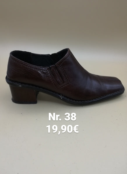 Scarpe donna nr 38 marroni in pelle