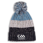 GAA Handball Bobble Hat Black/Grey/Blue