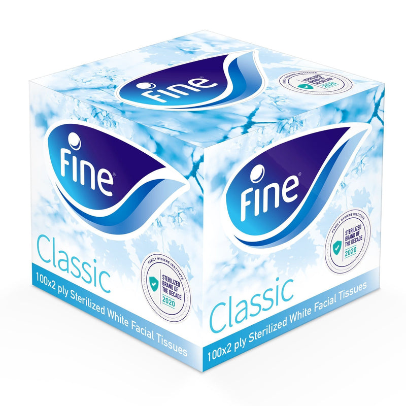 Fine, Facial Tissue, Classic Cubic 100 X 2Ply