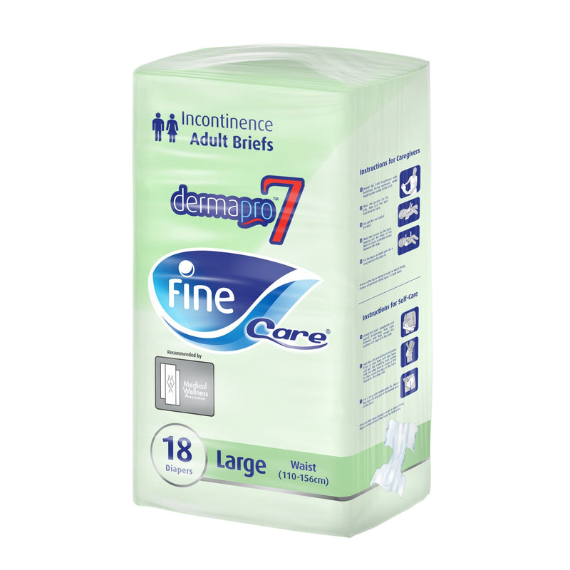 Fine Care Incontinence Unisex Briefs, Large, Waist (110 -156 cm), Pack of 18