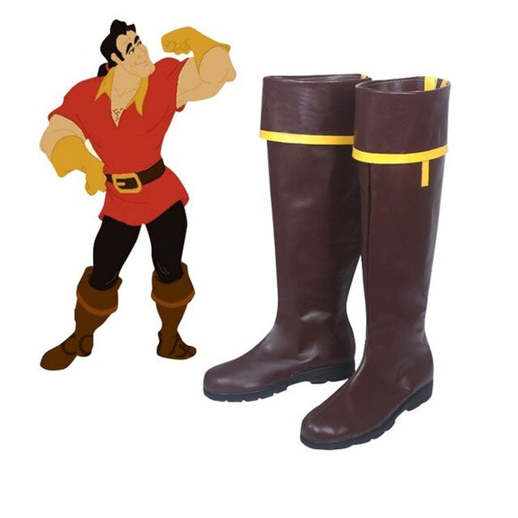 Beauty and the Beast 1991 Version Gaston Shoes Cosplay Boots