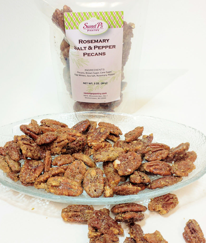 Award Winning Rosemary Salt & Pepper Pecans