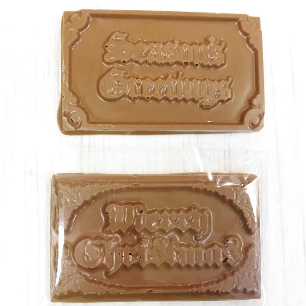 Holiday Greeting Chocolate Bars