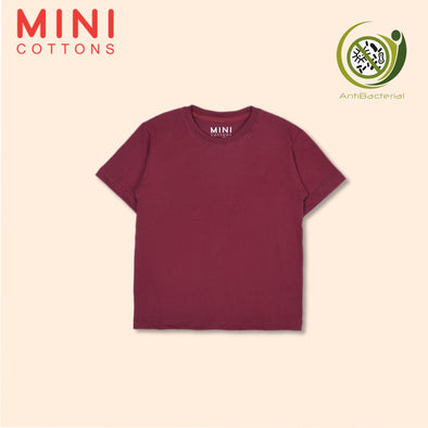 MINI COTTONS MAROON BASIC TEE