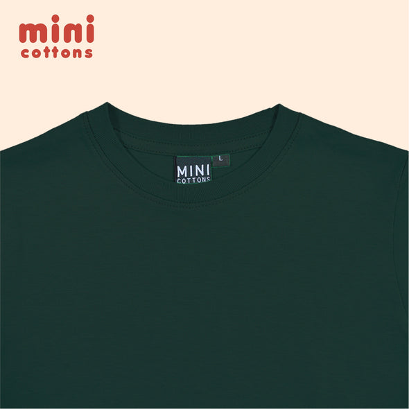 MINI COTTONS KAOS POLOS PANJANG ANAK BASIC GREEN BOTTLE