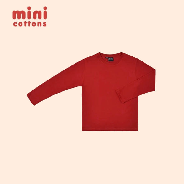 MINI COTTONS KAOS PANJANG POLOS ANAK RED BASIC TEE