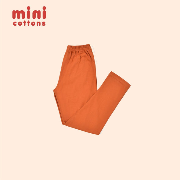 MINI COTTONS CELANA PANJANG ANAK ORANGE BASIC