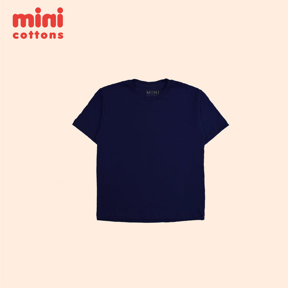 MINI COTTONS NAVY BASIC TEE