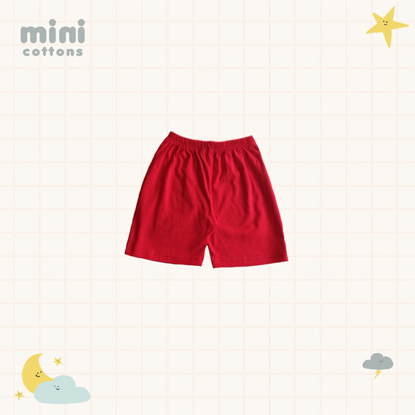 MINI COTTONS KIDS SET RED TEE