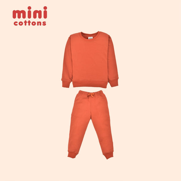 MINI COTTONS SWEATER SET ANAK MAHOGANY RED