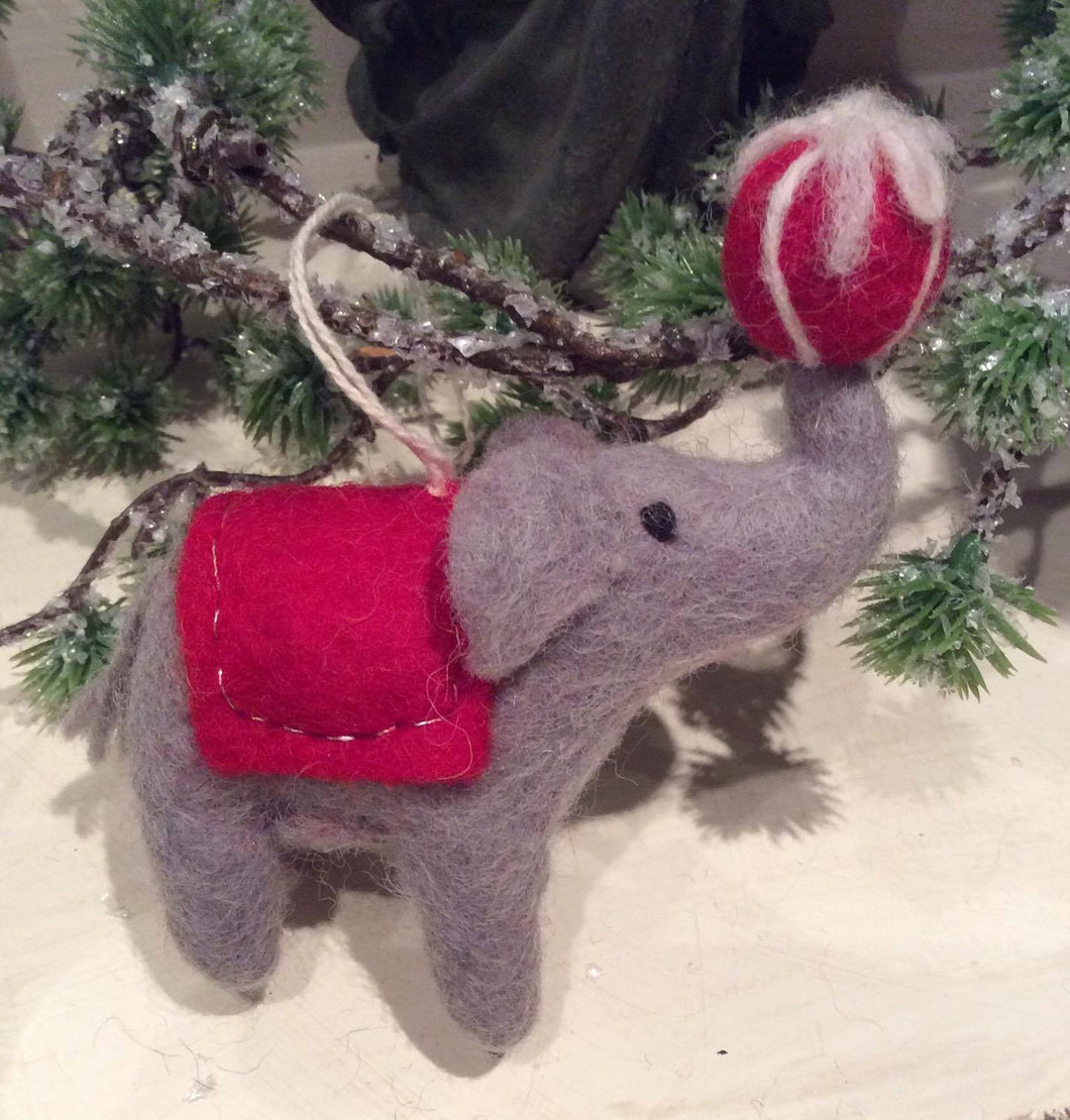 Elephant with Christmas Present