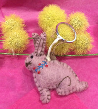 Load image into Gallery viewer, Rabbit Felt Keyring