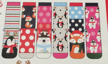 Load image into Gallery viewer, Mistletoes Ladies Xmas Odd Socks in a Box (6 in a pack)